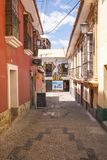 LA PAZ, BOLIVIA DEC 2018: Jaen Street in La Paz, Bolivia city center stock images