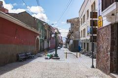 LA PAZ, BOLIVIA DEC 2018: Jaen Street in La Paz, Bolivia city center stock photos