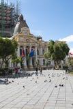 LA PAZ, BOLIVIA, DEC 2018: Plaza Murillo in La Paz, Bolivia city center stock photography