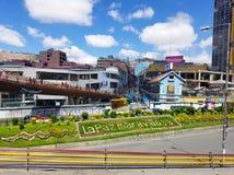 LA PAZ, BOLIVIA, DEC 2018: La Paz, Bolivia streets in city center. On a bright summer day stock photo