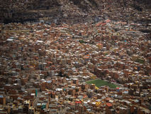 La Paz Bolivia Downtown photo of the Historic Capital City Royalty Free Stock Photo