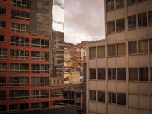 La Paz Bolivia Downtown photo of the Historic Capital City Stock Image