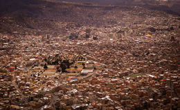 La Paz Bolivia Downtown photo of the Historic Capital City Stock Photos
