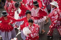 LA PAZ, BOLIVIA - 11 FEBBRAIO 2018: Ballerini a La Paz Carnival Immagini Stock