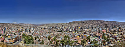 La Paz Bolivia from Killi Killi Viewpoint Royalty Free Stock Photo