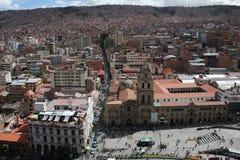 La paz bolivia. The main square in la paz bolivia Royalty Free Stock Photography