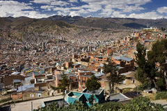 La Paz - Bolivia - South America. Downtown area of the city of La Paz in Bolivia royalty free stock images