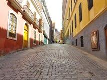 La Paz, Bolivia streets in city center stock image