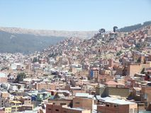 la Paz in Bolivia Stock Image