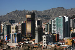La Paz Buildings Royalty Free Stock Images