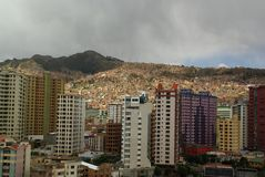 La Paz, capital of Bolivia Stock Images