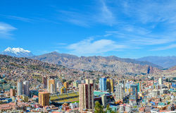 La Paz capital, Bolivia, South America. View of the mountain city of La Paz, the world's highest capital, at 3650 m above sea level Stock Photo