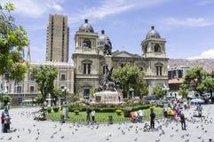 La Paz - catedral Imagen de archivo libre de regalías