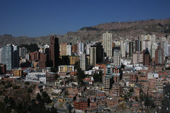 La Paz City Buildings Stock Image
