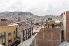 La Paz city buildings cityscape view, Bolivia. Stock Image