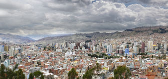 La Paz city panorama Royalty Free Stock Photos