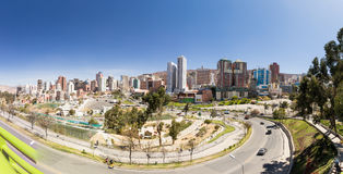 La Paz city scape cityscape panorama view. Stock Images