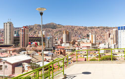 La Paz city scape cityscape panorama view. Royalty Free Stock Photo