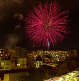 La Paz. At dark,Bolivia royalty free stock photo