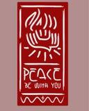 La paz esté con usted Fotos de archivo libres de regalías