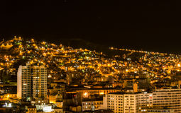 La Paz at night, Bolivia Stock Photos