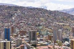 La Paz - océan des maisons Photographie stock