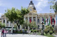 La Paz - parlament royaltyfria foton