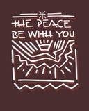 La paz sea con usted b Fotografía de archivo libre de regalías