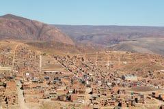 La Paz view from El Alto,Bolivia. Bolivian capital stock photo