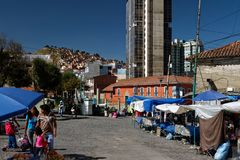 La Paz - Bolivian capital 03 royalty free stock image