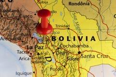 La- Pazkapitolstadt von Bolivien Lizenzfreie Stockbilder