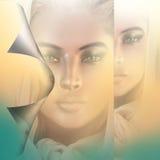 La peau de retour effectuent, le visage de la femme. Image libre de droits