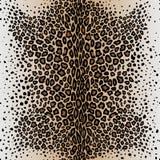 La peau sans couture du ` s de léopard de modèle de vecteur Photographie stock libre de droits