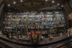 La Pecera do bar de Circulo de Bellas Artes Madri, o 11 de março, 20 fotografia de stock royalty free