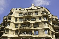 La Pedrera, also called Casa Mila, Barcelona Stock Photography