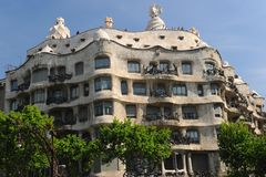 La Pedrera, Antoni Gaudi Royalty Free Stock Photos