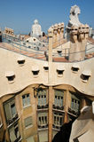 La Pedrera at Barcelona was designed by Antoni Gaudi Stock Photography