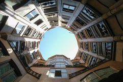 La Pedrera at Barcelona was designed by Antoni Gaudi Royalty Free Stock Photography