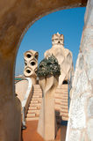 La Pedrera at Barcelona was designed by Antoni Gaudi Stock Photo