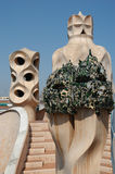 La Pedrera at Barcelona was designed by Antoni Gaudi Stock Photos