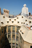 La Pedrera at Barcelona was designed by Antoni Gaudi Stock Images