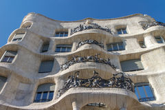La Pedrera, building designed by Antoni Gaudi from Barcelona Stock Photos
