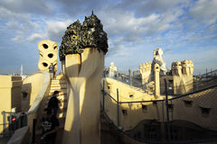 La Pedrera, Casa Mila Apartments of Antoni Gaudi Stock Photography