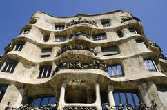 La Pedrera. Casa Mila. Stock Photos