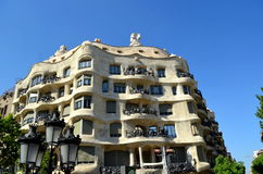 La Pedrera Casa Mila a modernist building the last civil work Royalty Free Stock Photo