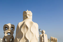 La Pedrera Chimneys Royalty Free Stock Photo