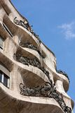 La Pedrera facade vertical Royalty Free Stock Photo