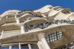 La Pedrera, Famous building by Antoni Gaudi, Barcelona Stock Photo