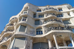 La Pedrera, Famous building designed by Antoni Gaudi Stock Photo