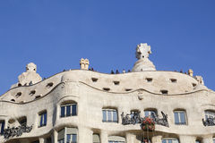 La Pedrera from Gaudi, in Barcelona Royalty Free Stock Photography